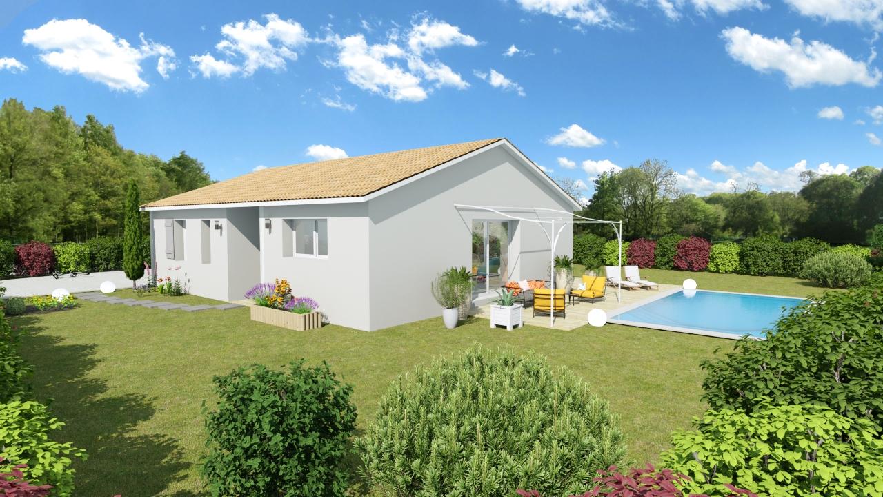 maison de plain pied simple et moderne maisons batiseul constructeur de maisons individuelles. Black Bedroom Furniture Sets. Home Design Ideas