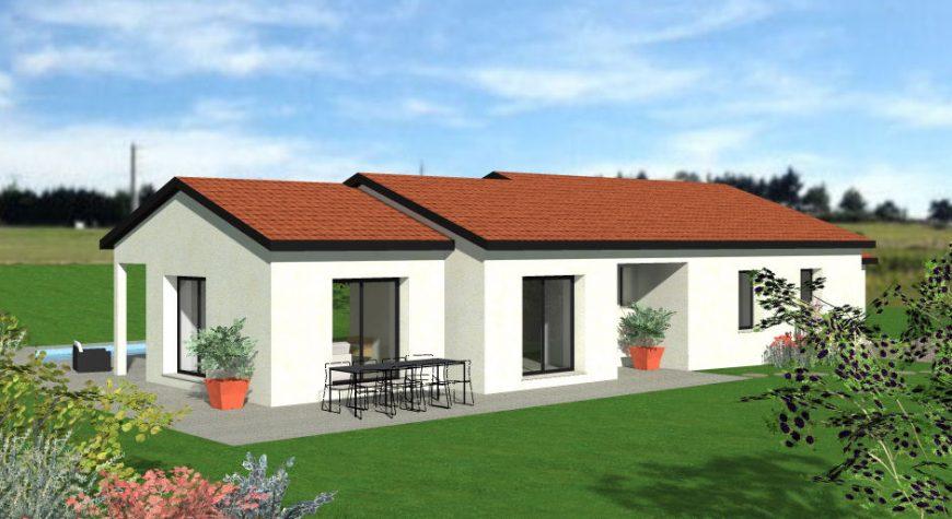 Maison de plain-pied avec toiture - Maisons Batiseul | Constructeur de maisons individuelles