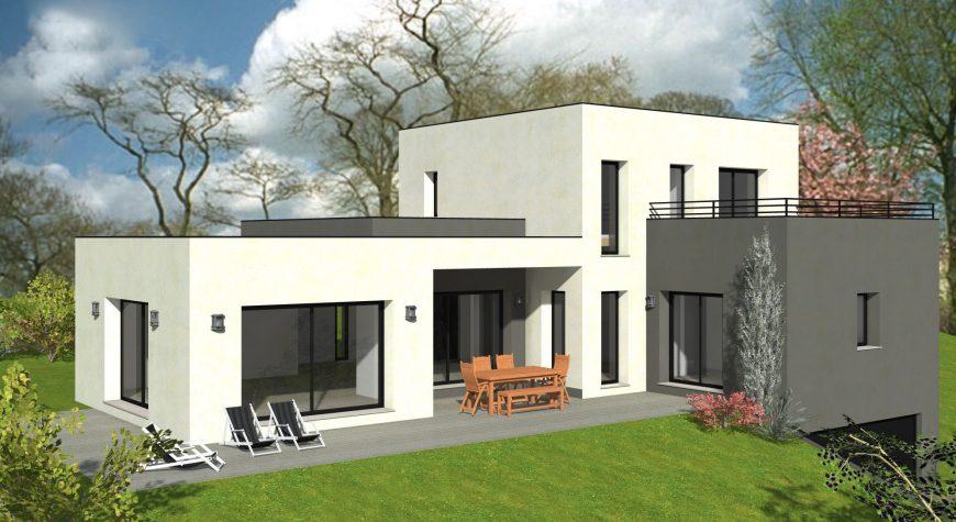 Maison-toit-plat-bicolore-chassis-fixe-solarium